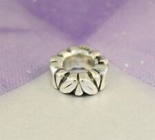 Authentic Pandora Sterling Silver Leaf Spacer Charm 925 ALE 790206 Retired
