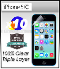 10 x Top Grade Ultra CLEAR Screen Protector Guard Film For New APPLE iPhone 5C