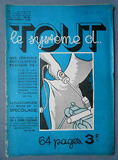 ► TOUT LE SYSTEME D N°6 - 1934 - T.S.F. INVENTIONS