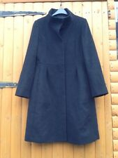 Hobbs London Wool & Cashmere Black Dolly Night Out Coat Size 12
