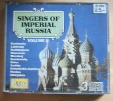 Singers of Imperial Russia Vol. 2 (3xCD)