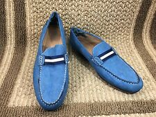 STACY ADAMS PEPI CASUAL SLIP ON MOCCASINS LOAFERS BLUE MENS 24942 SZ 13