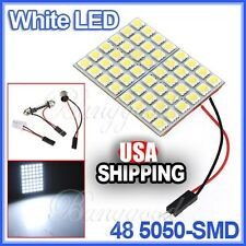 White Panel Map Light 48 SMD 5050 LED+Interior Bulb+T10+BA9S Adapter,Dome lamp