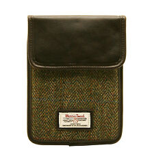 THE BRITISH BAG COMPANY - GREEN CHECK HARRIS TWEED IPAD MINI CASE