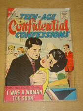TEEN-AGE CONFIDENTIAL CONFESSIONS #12 VG+ (4.5) CHARLTON COMICS JUNE 1962