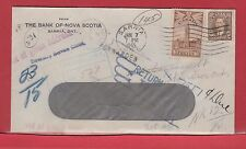 Return to Sender postage due Registered drop rate Canada cover