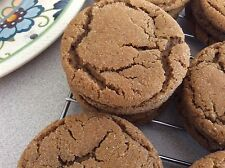 36 (3 Dozen) Homemade Ginger Molasses Cookies Celebration. Made fresh!