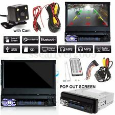 7'' HD 1 DIN Single Touch Screen MP3/MP5 Bluetooth Player + Rear Camera W/ Cable