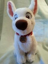 "BOLT Dog Disney Store 12"" Plush Stuffed Dog Stuffed Animal Boys and Girls 3 & Up"