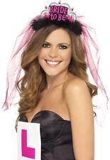 Schwarzer Braut-Alarm-Schleier  NEU - Karneval Fasching Hut Mütze Kopfbedeckung
