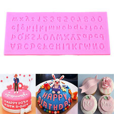 Silicone Letter Alphabet Number Cake Chocolate Fondant Decorating Bake Mold Tool