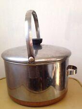 vintage Revere Ware Copper Clad 6 Qt Dutch Oven with Bail Handle patent 2363973