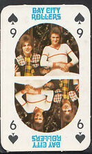 Monty Gum 1970's Gum Card - The Bay City Rollers Music Card - Nine of Spades