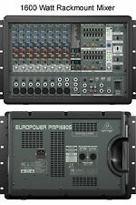 BEHRINGER PMP1680S 10CH 1600w POWERED FX RACKMOUNT AUDIO MIXER $20 INSTANT OFF