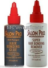 Salon Pro Hair Extension Black Glue & Remover Kit .