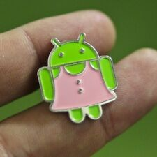 New Google Badge Android Pin Brooch Jewelry Dress Pink Metal Collection
