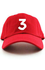 """Chance 3"" Custom Unstructured Red w/ White Dad Hat Coloring Book New"