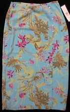 Liz Claiborne Full-Length Floral Turquoise Skirt Size 14 NWT