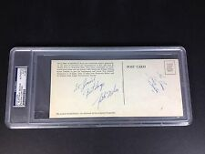 Rick Nelson & James Burton Signed Autograph PSA/DNA Graded 9 Nelson/ 7 Burton