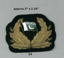 Officers Cap Badge for a Pakistan(?) Naval Vessel with an enamelled metal flag