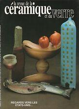 La revue de la céramique et du verre N°50 janvier - février 1990 indiens pueblo