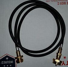 Propane tank extension hose, disposable type threads, 5 foot, SUPER FLEXIBLE!