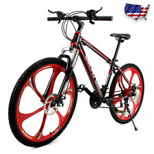 SMLRO 26 Inch Mountain Bike 21 Speed Damping Bicycle High Carbon Steel Frame New