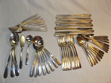 HOLMES & EDWARDS SILVERPLATE YOUTH 49 pieces Service for 8  PLUS 5 serv
