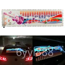90x25cm Car Sticker Music Rhythm LED Flash Light Lamp Sound Activated Equalizer