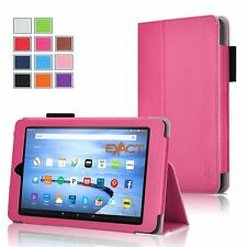 Exact Pro Magnetic Folio PU Leather Case for Amazon Kindle Fire HD 7 Hot Pink