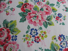 Cath Kidston Large Spray Flowers 47cm square lightweight cotton fabric new