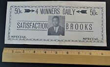 RARE Advertising Envelope Cover Black African American Lottery 1920 Rochester NY
