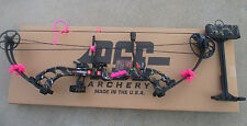 "new PSE STINGER X SKULLWORKS 2 CAMO 60# BOW 21-30"" RH PINK KIT PACKAGE"