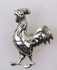 CHINESE NEW YEAR ROOSTER COCKEREL LUCKY SILVER BROOCH 925 GIFT