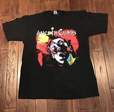 Alice in Chains - Vintage 1990 Facelift Tour Shirt Size Large Made in USA Black