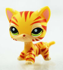 Littlest Pet Shop LPS Toy #1451 Rare Orange Tiger Cat Animals Kitten Kitty