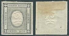1861 SARDEGNA STAMPATI 2 CENT SENZA GOMMA - A124-4