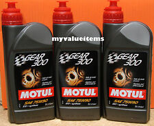 3 Motul GEAR 300 75W90 - 1L Ea - 100118/105777 100% Synthetic Ester Based NEW