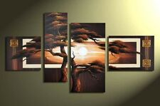 Large Wall Art Modern Abstract Oil Painting African scenery Canvas Framed L019