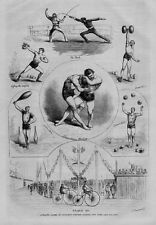 FENCING VELOCIPEDE WRESTLING ATHLETIC GAMES GILMORE'S CONCERT GARDEN NEW YORK