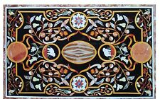 """24""""x55"""" Black Marble Dining Corner Table Top Marquetry Mosiac Inlay Decor H1526"""