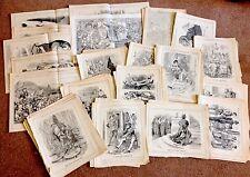 Lavoro Lotto di Punch CARTONI ANIMATI-Doppia pagina & singola pagina solo anni 1880-ANNI 1900 - 300pg