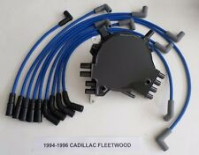 CADILLAC FLEETWOOD 1994-96 LT1 5.7L OPTISPARK Distributor, BLUE Spark Plug Wires