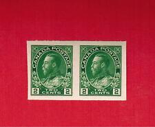 1924  #  137 **  VFNH  CANADA  IMPERFORATE PAIR STAMPS   GEORGE V ADMIRAL  ISSUE
