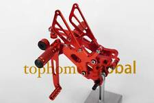 CNC RED Foot pegs Rearsets Rear set For Yamaha YZF R6 R600 2006-2014 2012 2011