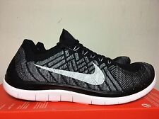 Nike Free 4.0 Flyknit Black/White-Wolf Grey-Dark Grey (717075-001) Men's 8.5
