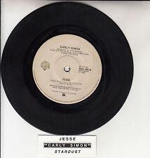 "CARLY SIMON  Jesse  7"" 45 rpm vinyl record + juke box title strip"