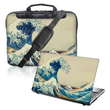 "TaylorHe da 15,6 ""LAPTOP SHOULDER BAG MANICI TRACOLLA & Pelle Bundle BIG WAVE 301"
