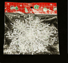 30PCS Christmas Holiday Party Home Decor Classic White Snowflake Ornaments 11cm