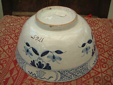 RARE ENGLISH DATED PUNCHBOWL 1765 LONDON FAIENCE MAIOLICA DELFTWARE 18EME XVIII